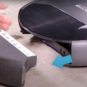 Cómo abrir el depósito de un robot aspirador Rowenta